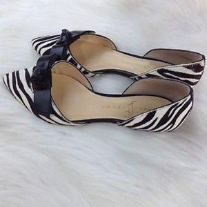 Ivanka Trump Loire Zebra Flats